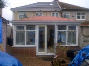 red solid roof